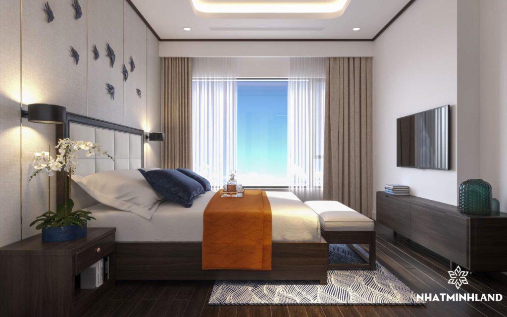 phòng ngủ chung cư monbay