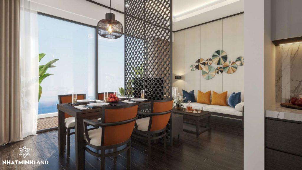 phòng ăn chung cư monbay