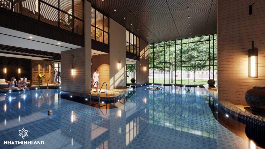 bể bơi chung cư Monbay